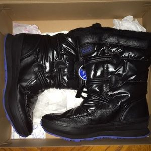 Keds Black Leather Snow Boots